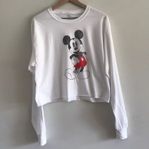 Mickey Mouse Long Sleeve Graphic Tee Size L